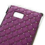 Drahokamové puzdro pre HTC Desire 600- fialové - 4/5