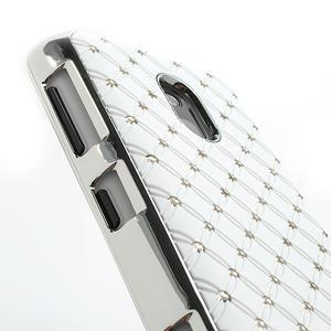 Drahokamové puzdro na Nokia Lumia 620- biele - 4