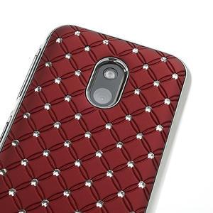 Drahokamové puzdro na Nokia Lumia 620- červené - 4
