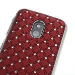 Drahokamové puzdro na Nokia Lumia 620- červené - 4/4
