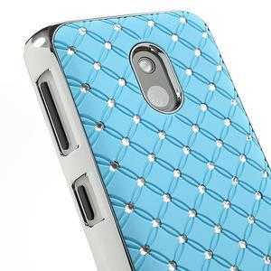 Drahokamové puzdro na Nokia Lumia 620- svetlo modré - 4