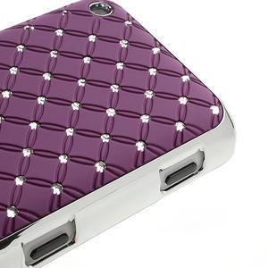 Drahokamové puzdro na Nokia Lumia 620- fialové - 4