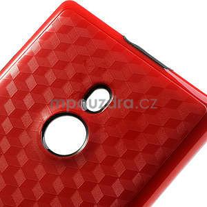 Hybridní 3D puzdro pre Nokia Lumia 925- červené - 4
