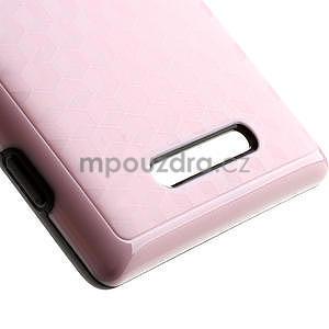 Hybridní 3D puzdro pre Nokia Lumia 925- růžové - 4