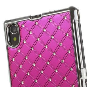 Drahokamové pouzdro na Sony Xperia Z1 C6903 L39-růžové - 4