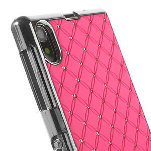 Drahokamovej puzdro pre Sony Xperia Z1 C6903 L39- svetleružové - 4