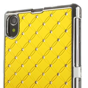 Drahokamovej puzdro pre Sony Xperia Z1 C6903 L39- žlté - 4