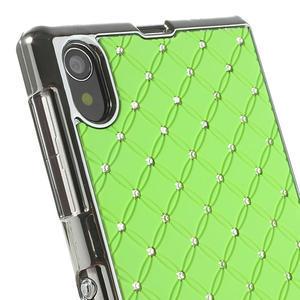 Drahokamovej puzdro pre Sony Xperia Z1 C6903 L39- zelené - 4