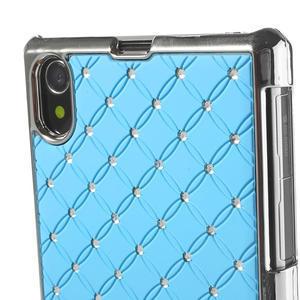 Drahokamovej puzdro pre Sony Xperia Z1 C6903 L39- svetlomodré - 4