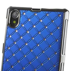 Drahokamovej puzdro pre Sony Xperia Z1 C6903 L39- modré - 4