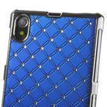 Drahokamovej puzdro pre Sony Xperia Z1 C6903 L39- modré - 4/4