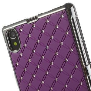 Drahokamovej puzdro pre Sony Xperia Z1 C6903 L39- fialové - 4