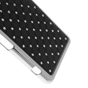Drahokamové puzdro na Sony Xperia Z1 Compact D5503- čierné - 4