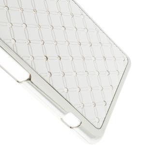 Drahokamovej puzdro pre Sony Xperia Z1 Compact D5503- biele - 4