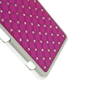 Drahokamové puzdro na Sony Xperia Z1 Compact D5503- růžové - 4