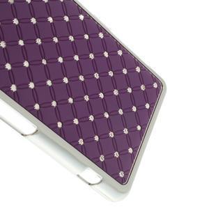 Drahokamové puzdro na Sony Xperia Z1 Compact D5503- fialové - 4