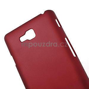 Pogumované  puzdro pre LG Optimus L9 II D605- červené - 4
