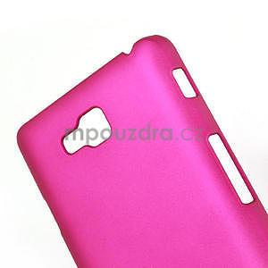 Pogumované  puzdro pre LG Optimus L9 II D605- růžové - 4