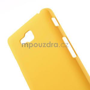 Pogumované  puzdro pre LG Optimus L9 II D605- žlté - 4