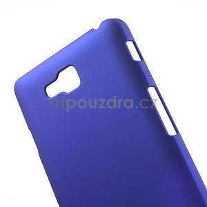 Pogumované  puzdro pre LG Optimus L9 II D605- modré - 4
