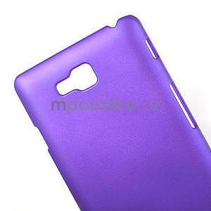 Pogumované  puzdro pre LG Optimus L9 II D605- fialové - 4