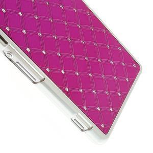 Drahokamovej puzdro pre Sony Xperia Z2 D6503- ružové - 4