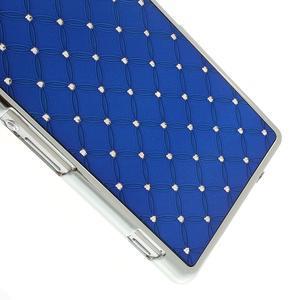 Drahokamovej puzdro pre Sony Xperia Z2 D6503- modré - 4