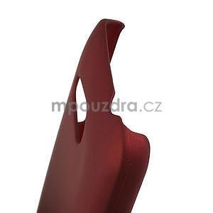 Pogumované puzdro pre HTC Desire 200- červené - 4