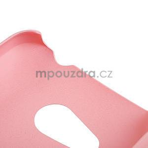 Pogumované puzdro pre HTC Desire 200- svetloružové - 4