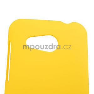 Pogumované puzdro pre HTC Desire 200- žlté - 4