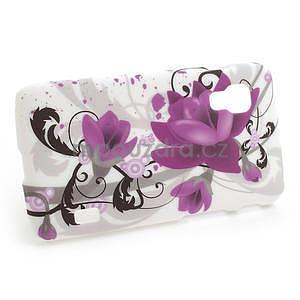 Plastové puzdro pre LG Optimus L5 Dual E455- fialový kvet - 4