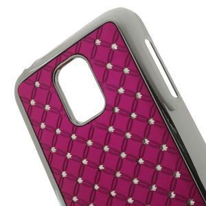 Drahokamové pouzdro na Samsung Galaxy S5 mini G-800- růžové - 4