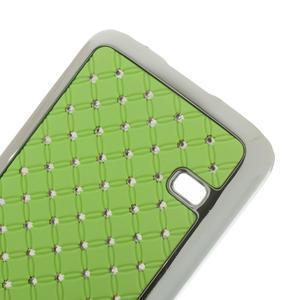 Drahokamové puzdro pre Samsung Galaxy S5 mini G-800- zelené - 4