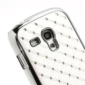 Drahokamové puzdro pre Samsung Galaxy S3 mini i8190- biele - 4