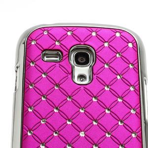 Drahokamové puzdro pre Samsung Galaxy S3 mini i8190- ružové - 4