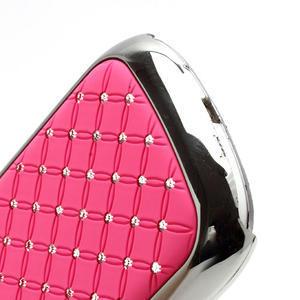 Drahokamové puzdro pre Samsung Galaxy S3 mini i8190- svetlo-ružové - 4