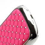 Drahokamové puzdro pre Samsung Galaxy S3 mini i8190- světle-růžové - 4/4