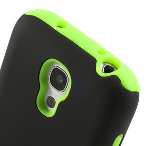 Hybridní puzdro na Samsung Galaxy S4 mini i9190- zelené - 4