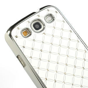 Drahokamové puzdro pre Samsung Galaxy S3 i9300 - biele - 4