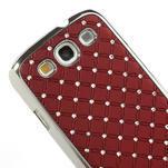 Drahokamové puzdro pre Samsung Galaxy S3 i9300 - červené - 4/5