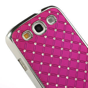 Drahokamové puzdro pre Samsung Galaxy S3 i9300 - ružové - 4
