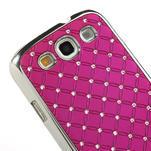 Drahokamové puzdro pre Samsung Galaxy S3 i9300 - ružové - 4/5