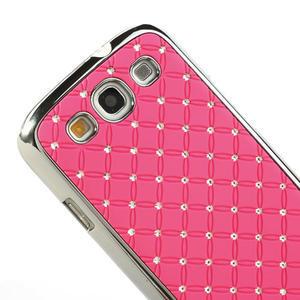 Drahokamové puzdro pre Samsung Galaxy S3 i9300- světle-růžové - 4