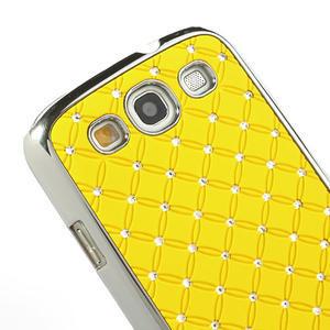 Drahokamové puzdro pre Samsung Galaxy S3 i9300 - žltá - 4