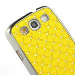 Drahokamové puzdro pre Samsung Galaxy S3 i9300 - žltá - 4/5