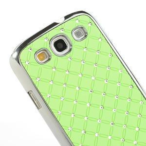 Drahokamové puzdro pre Samsung Galaxy S3 i9300 - zelené - 4