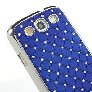 Drahokamové puzdro pre Samsung Galaxy S3 i9300 - modré - 4