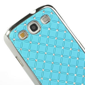 Drahokamové puzdro pre Samsung Galaxy S3 i9300 - světlě-modré - 4