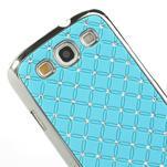 Drahokamové puzdro pre Samsung Galaxy S3 i9300 - světlě-modré - 4/5