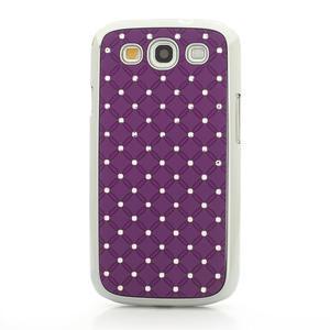 Drahokamové puzdro pre Samsung Galaxy S3 i9300 - fialové - 4